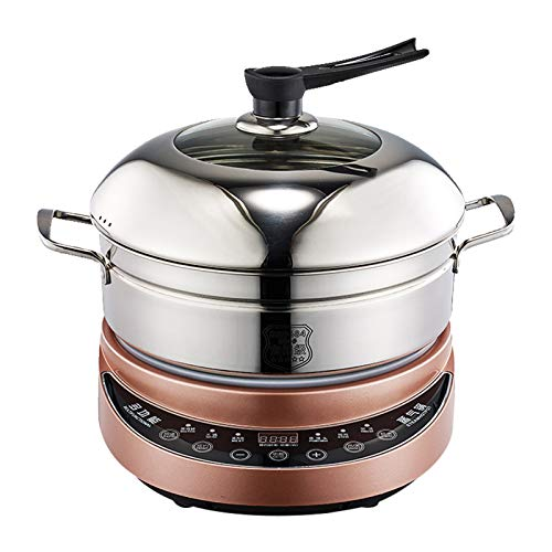 WPYYI 304 Stainless Steel Instant Cooker Food Steamer Pot Food Warmer Electric Steamer (Color : Gold)