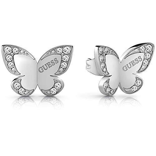 Indovinare orecchini farfalla amore chirurgico rodio placcato in acciaio inox logo UBE78010 [AC1126]