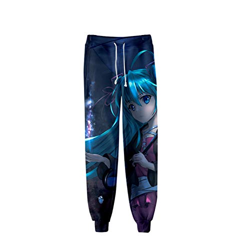 Anime Hatsune Miku 3D Printed Cosplay Gym Joggers Casual Active Track Pants Trousers Drawstring Sports Sweatpants 08 XXXL