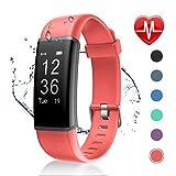 Letsfit Fitness Tracker mit Pulsmesser Fitness Armband Wasserdicht IP67 Schrittzähler Uhr Pulsuhren...