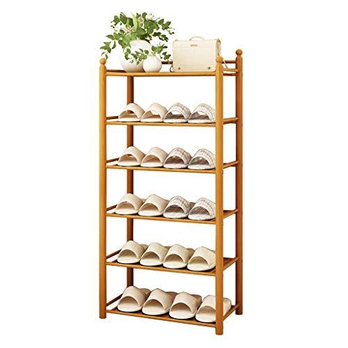 BRFDC Zapatero Shoe Rack Storage Rack 50CM de Ancho Conjunto de bambú de Madera Estable Estable Marco de bambú Natural Ahorra espaci (Size : 50x24x50cm)