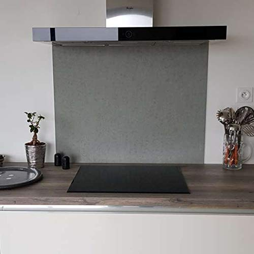 Aparador Urban Concrete de aluminio compuesto, 25 cm de alto x 60 cm de ancho.