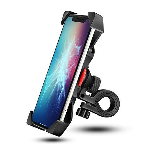 Grefay Bicicletta Supporto per Smartphone Universale Motociclo Manubrio Cellulare Titolare per Monopattino Elettrico con 360 Rotazione per 3,5-6,5 Pollici Smartphone