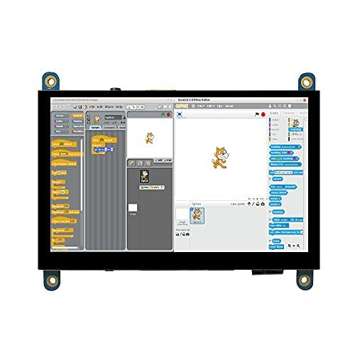 Per Raspberry Pi LCD Display Module Kit schermo touch da 5 pollici 800x480 (Pixel), compatibile con Raspberry Pi per Raspberry Pi 4B 3B + 3B 2B + BB Black Banana Pi Windows 10 8 7