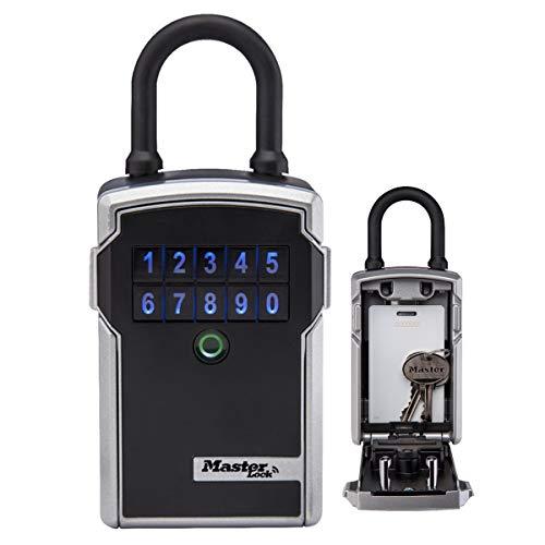 Master Lock 5440EURD Cassaforte per chiavi con Bluetooth con combinazione, Archetto, Resistente agli agenti atmosferici, Mini cassaforte per chiavi Select Access Smart