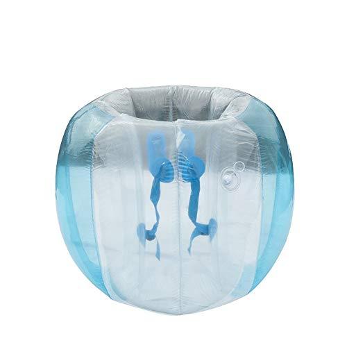 Changli Burbujas de fútbol inflables de Burbuja, Bola de Sumo de Parachoques de Aire de PVC de 0,3 mm, fútbol Inflable de Cuerpo portátil, Juegos de Deportes al Aire Libre Blue 36 Inch