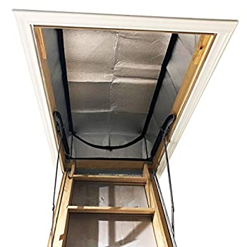Attic Stairs Insulation Cover 25  x 54  x 11  - Attic Ladder Insulation Cover - Attic Insulation Tent with Zipper - Fire Proof Attic Cover Stairway Insulator