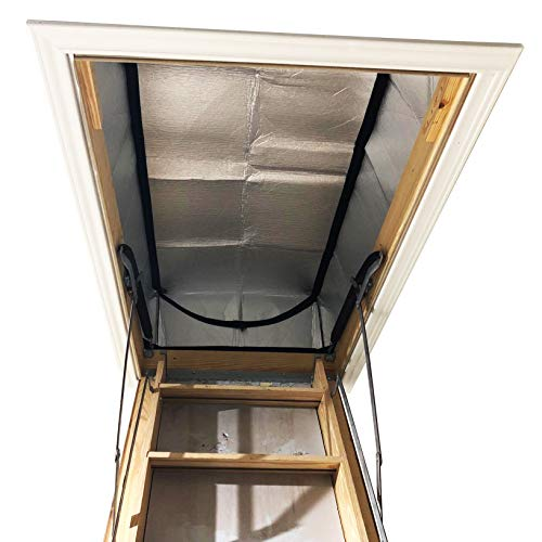 """Attic Stairs Insulation Cover 25"""" x 54"""" x 11"""" - Attic Ladder Insulation Cover - Attic Insulation Tent with Zipper - Fire Proof Attic Cover Stairway Insulator"""