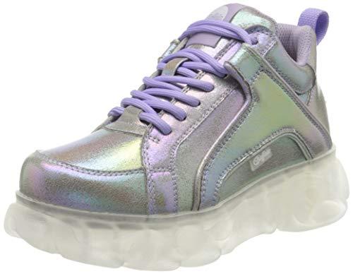 Buffalo Damen Corin Hohe Sneaker, Silber (Pearl 000), 38 EU