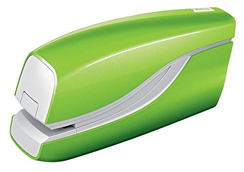 Petrus 624826 Grapadora Eléctrica, Grapa 10 Hojas, Funciona con Pilas, Gama WOW,Verde