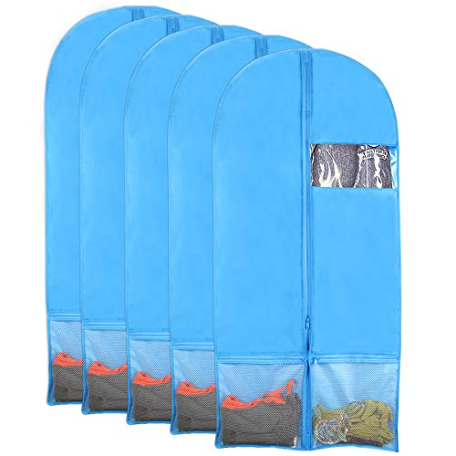 43 Garment Bags for Storage Dance Garment Bag Suit Bag with Clear Window 43 Garment Bags for Storage Dance Garment Bag Suit Bag with Clear Window Set of 3 Kernorv Garment Bag with Pockets Set of 3