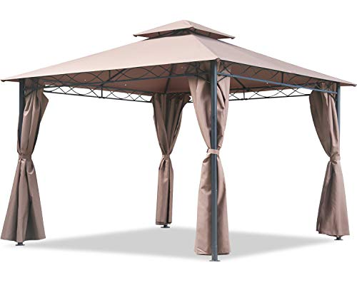 FDW Canopy Tent Gazebo 10' X 13' Grill Gazebo for Patios BBQ Outdoor Patio Large Garden Top Gazebo with Sidewall Party Tent
