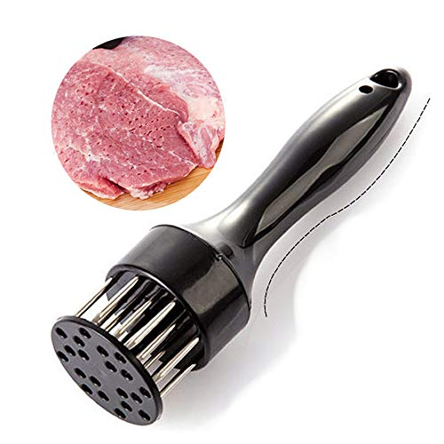 Martello per Bistecca con ago Manuale per inteneritore di Carne per Carne tenera Carne suina Carne di Vitello e pollame in Cucina,Silenzioso e Senza Schizzi(Nero)