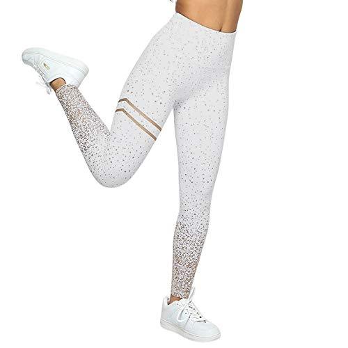 Womteam Pantalones atléticos para mujer, para entrenamiento, yoga, fitness, cintura alta, elasticidad, deportes, correr, yoga