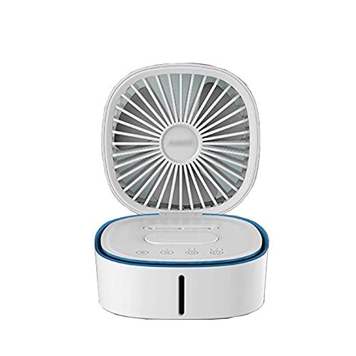 AIJIANG Ventilador humidificador Ventilador Refrigeración por Agua, Refrigeración por Pulverización Cubierta Abatible Refrigeración Nuevo Ventilador Escritorio Automático Enfriador Aire Enfriador