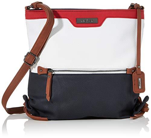 Rieker Damen Handtasche H1327, Blau (Pazifik/Bianco/Rosso), 280x130x400 cm