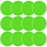 Coopay 12 Pieces Home Air Hockey Pucks 2.5 Inch Heavy Replacement Pucks for Game Tables Equipment Accessories, 13 Grams (Green)