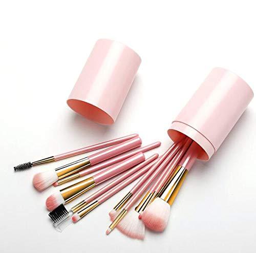 XINYIZI Professionele make-upkwastenset, 12-delig, synthetisch, foundation, blending, gezichtspoeder, blush, concealer, cadeau voor dames