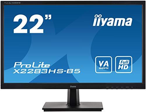 マウスコンピューター iiyama モニター ディスプレイ X2283HS-B5(21.5型/フルHD/VA/高視野角/ブルーライトカット/チルト/1920x1080/DisplayPort,HDMI,D-sub)