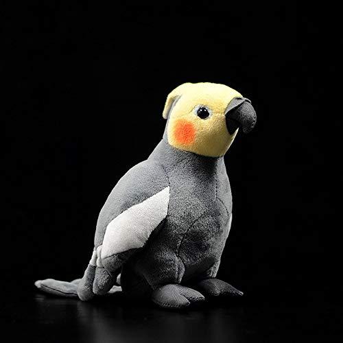 FDRE Super Mini Nymphensittich Plüschtiere Weiches Papagei Kuscheltiere Spielzeug Reastische Vögel Gefüllte Puppen Geschenke Für Kinder Grey18CMHeight