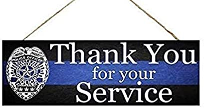 Officer Sign, Police Sign, Thank You for Your Service, Wreath Sign, Wreath Supplies, Craft Supplies, Wreath Center, Wreath Blank, Back The