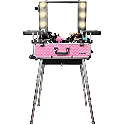 makeup case with lights makeup trolley