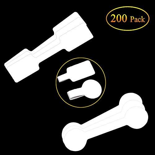 値札 200枚入りバーベルと長方形白い空白の価格タグラベル粘着剤付き価格ステッカー ネックレス,指輪,宝石,衣類,ジュエリー,腕時計,装飾用,DIYに適用
