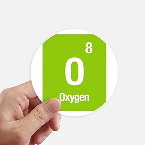 DIYthinker Química de Oxígeno Elemento Ciencia Redondas 10cm Pared Maleta portátil Motobike...