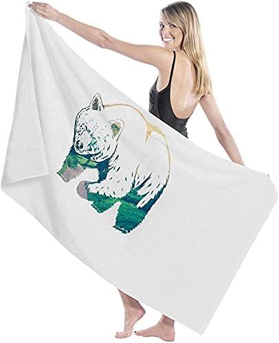 Toalla de baño, toalla de baño de montaña Bear Nature Big Swim Shower Adultos Manta Ultra Suave Barco Deportes Paño 80 x 130 cm