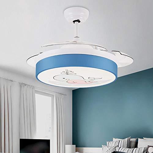 Control remoto del hogar lámpara de ventilador eléctrico LED lámpara de ventilador regulable lámpara moderna-Dolphin inversor de 36 pulgadas