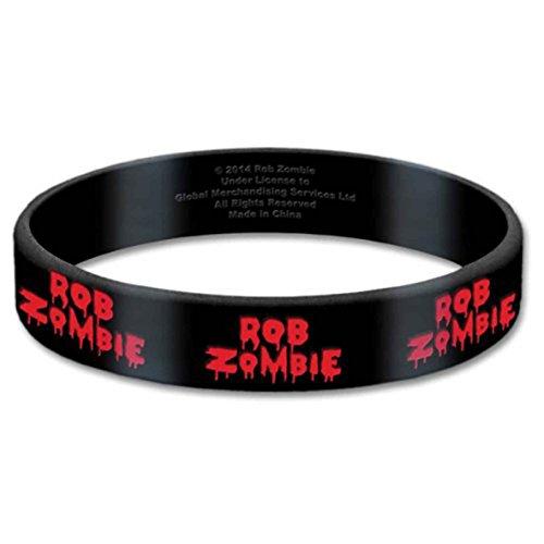 Rob Zombie Armband Logo Nue offiziell Gummy Schwarz 17mm