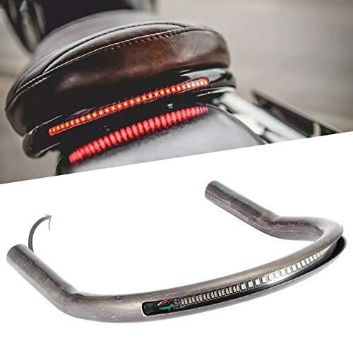 Cafe Racer Staffa di montaggio per telaio del sedile posteriore con LED Freno Singal Light Fit per, segnale di stop freno di coda(230mm)