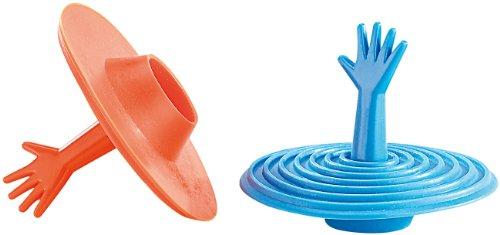 infactory Wasserstöpsel: 2er-Set lustige Abfluss-Stöpsel für Becken, Wanne & Co, aus Silikon (Abflussstöpsel Silikon)
