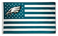 WHGJ Philadelphia Eagles Large NFL 3x5 FT Flag Fade Resistant Stars and Stripes Sports Banner
