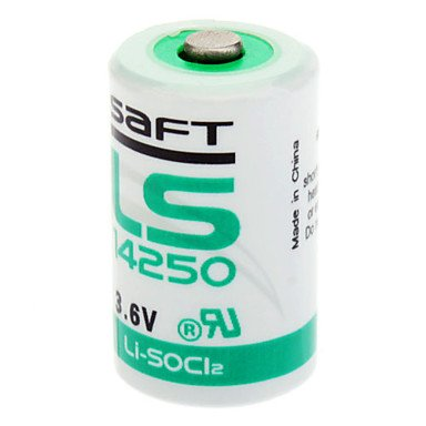 ELIMS High Capacity One Time SAFT LS 14250 1/2 AA 3,6 V lithium batterij
