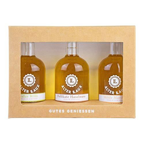 Alter LAUX Spirituosen Geschenkset, Premium Spirituosen mit 3 edlen Sorten à 50ml