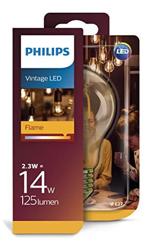 Philips LEDclassic Lampe Gold, Vintage Retro-Design ersetzt 14W, E27, Flame (2000 Kelvin), 125 Lumen, Dekolampe