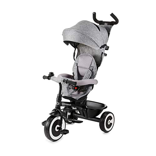 Toddler Stroller with Adjustable Canopy Safety Harness Folding Pedal Storage Bag Brake for 12 Months Phil Beauty 6 in 1 Baby Trike Folding Kids Tricycle Bike 5 Years,gray