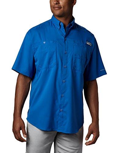 Columbia Men's PFG Tamiami II Short Sleeve Shirt ,Vivid Blue,Large