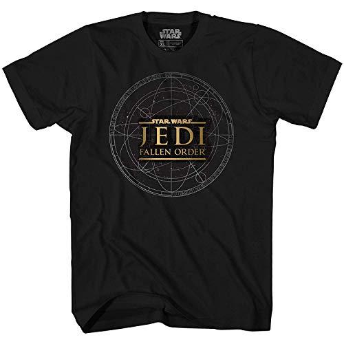 Camiseta masculina Star Wars Sith Fallen Order Video Game Gamer adulto, Preto, X-Large