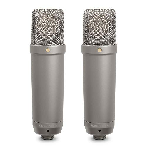 Rode NT1-A - Micrófono de Diafragma Grande para Estudios de Grabación, color Plateado