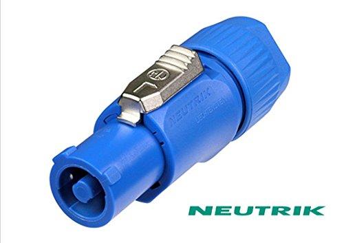 Conector Powercon Azul 3pines macho 250V Neutrik NAC3FCA