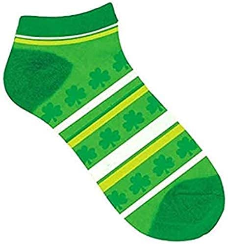 Amscan Shamrock Striped St. Patrick's Spasm price Ankle Shipping included Day Socks One Size