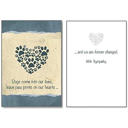 I/'m So Sorry Card Pet Sympathy Greeting Card Free Shipping Animal Sympathy Heart Broken Heart Paw Prints Card