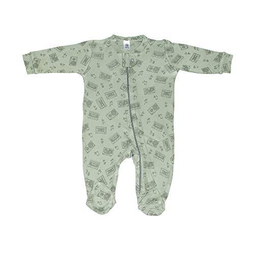 Booboobro Baby Schlafstrampler/Strampelanzug / 100% Bambus/Unisex / (Grün, 74)