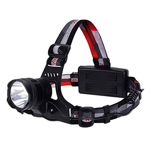 ZAIHW Lampe Frontale à LED, Lampe Frontale légère avec Piles Rechargeables, Lampe de Casque étanche et légère pour l'extérieur, Le Camping, la Course, la randonnée, la Lecture et Bien Plus