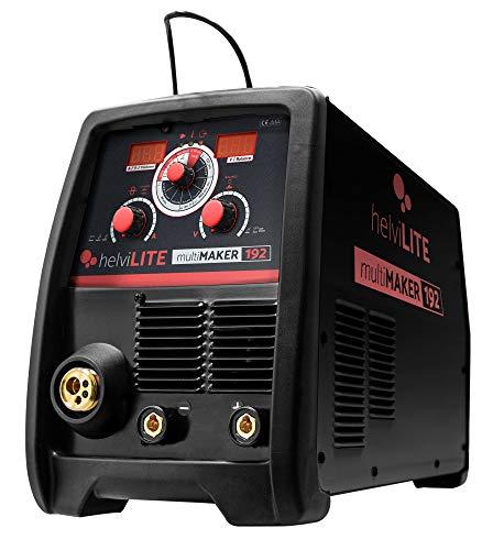 helviLITE 99820055 Saldatrice Inverter Multiprocesso MultiMaker 192 con Accessori, 230 V, Nero