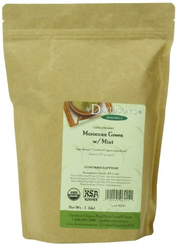 Davidson's Tea Bulk, Moroccan Green with Mint, 16 Ounce