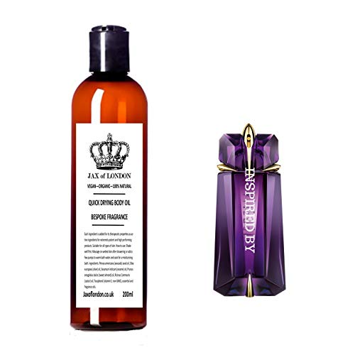 Inspired Body Oil, Quick Drying, Firming, Stretch Marks, Moisturiser, Massage, Aromatherapy, smell amazing by Jax of London 200ml (Aliens)