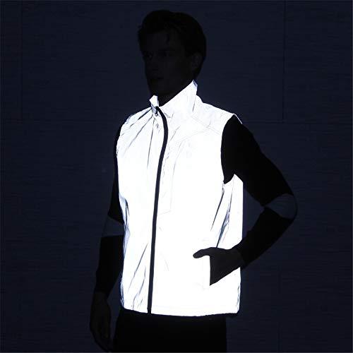 XXHDEE reflecterend vest outdoor paardrijden hip hop jas zonder mouwen nacht veiligheid grote maat reflecterend vest